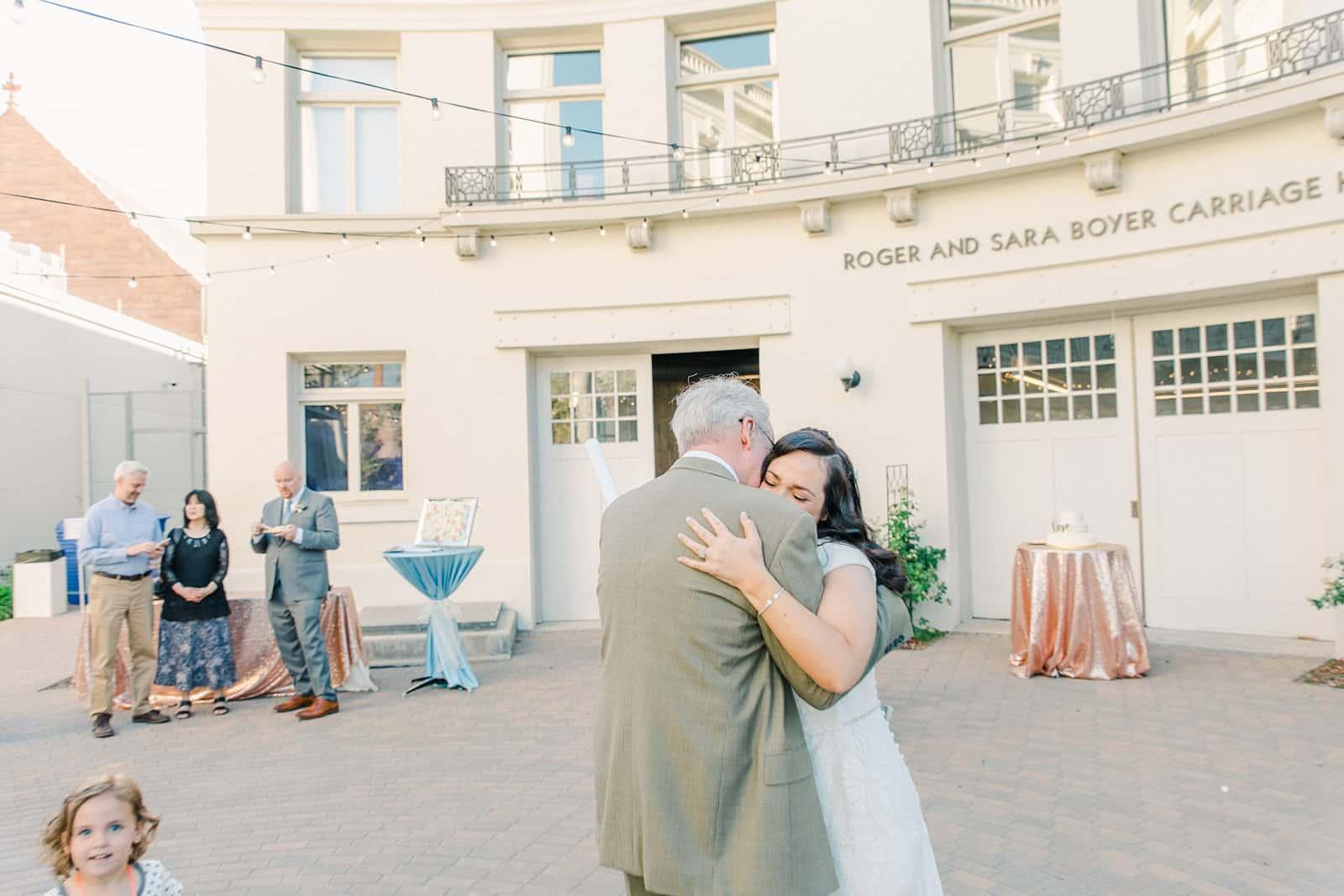 Thomas S. Monson Center Wedding, Salt Lake LDS Temple Wedding, Utah wedding photography. bride and father daddy daughter dance