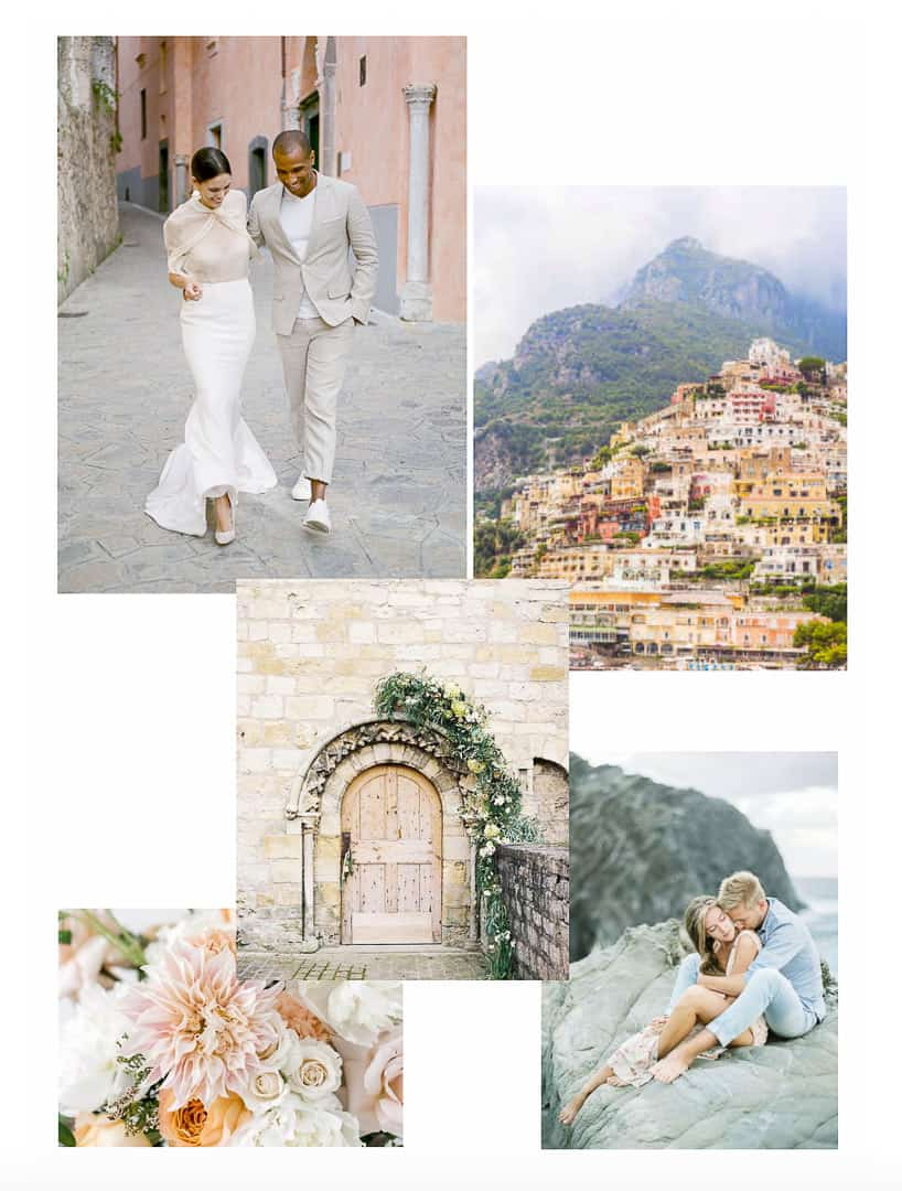 Italy Styled Shoot Mood Board engagements