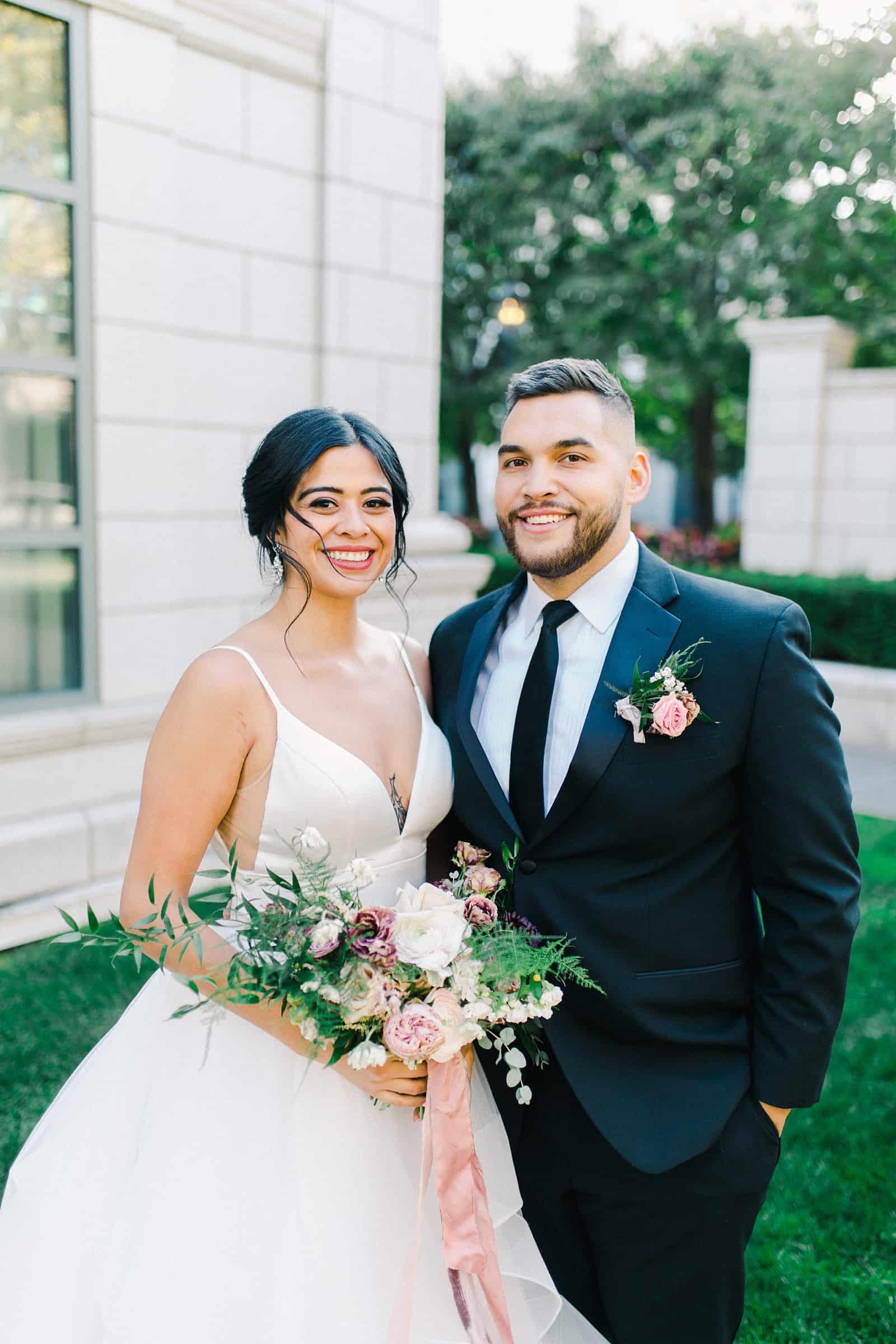 Happy bride and groom, utah wedding photographer
