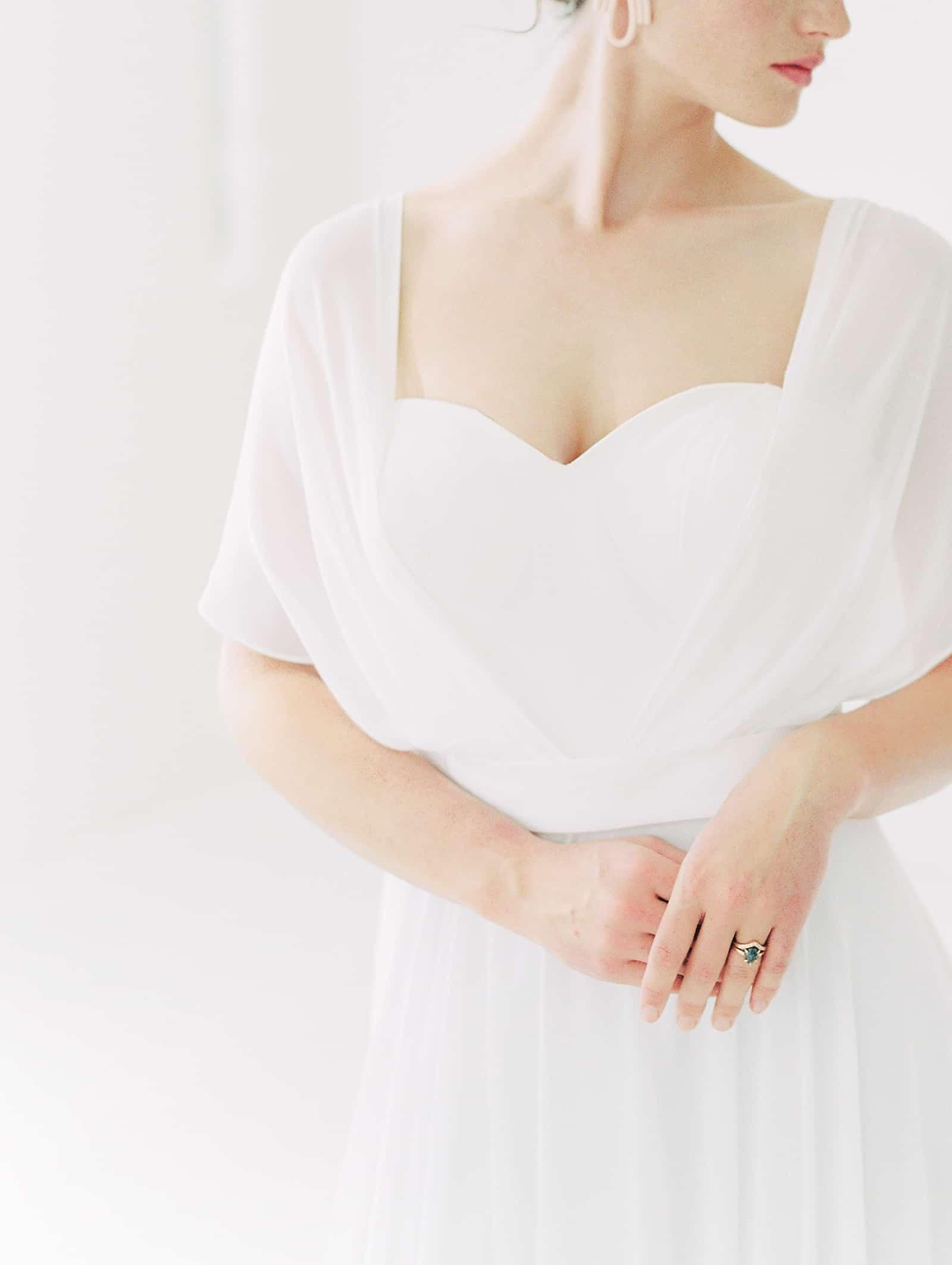 Modern wedding dress with sweetheart neckline